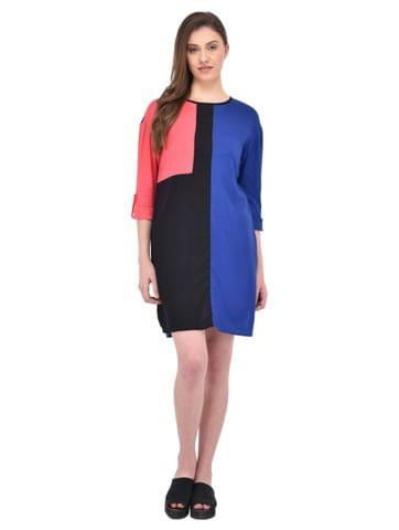 Multi Color Block Dress for women