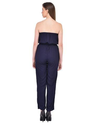 RIGO Navy Blue Off Shoulder Jumpsuit for women