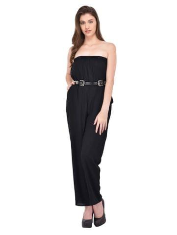 RIGO Black off shoulder jumpsuit for women