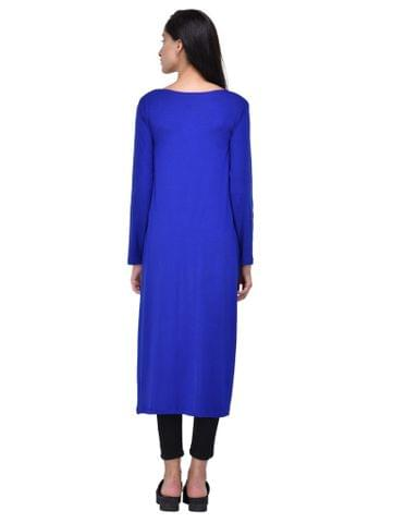 RIGO Solid Royal Blue Maxi Shrug for women