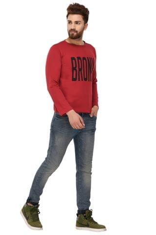 Rigo Red Cotton Sweatshirt for Men