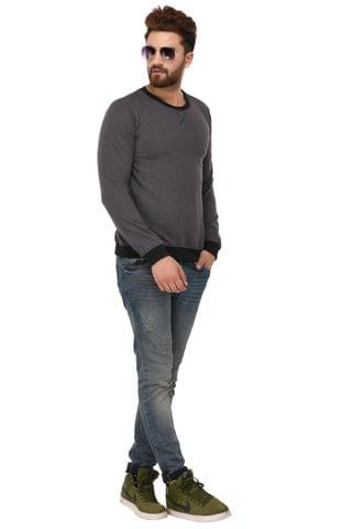 Rigo Charcoal Cotton Sweatshirt for Men