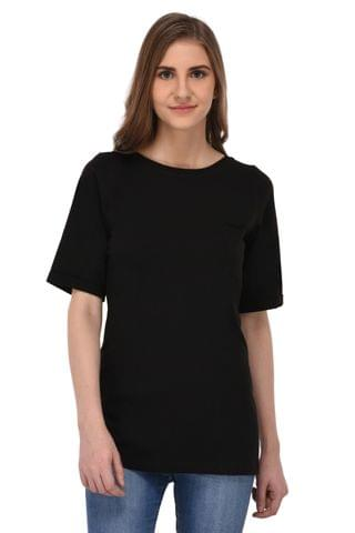 RIGO Long Black Tshirt for Women