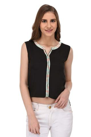RIGO Black High Low Hem Top for Women