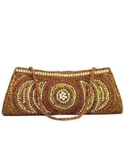 Handmade Beadwork Clutch- Copper