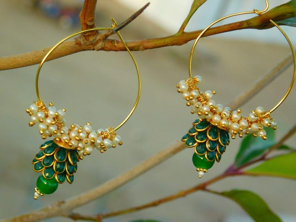 Pachi Hoop Earrings- Green