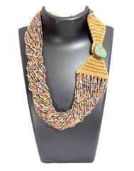 Handmade Multistrand Bead Necklace- Multicolor 2