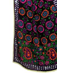 Phulkari Work Georgette Dupatta-Black