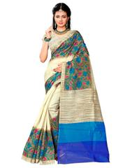 Cotton Silk Printed Saree-Multicolored-1