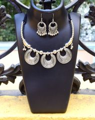 Oxidized Metal Jewellery Set-1