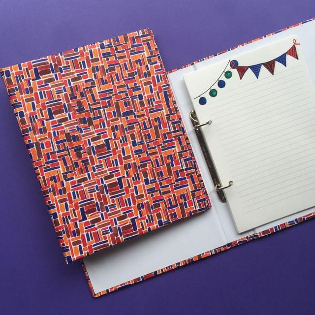Tinted lines mini folder notebook