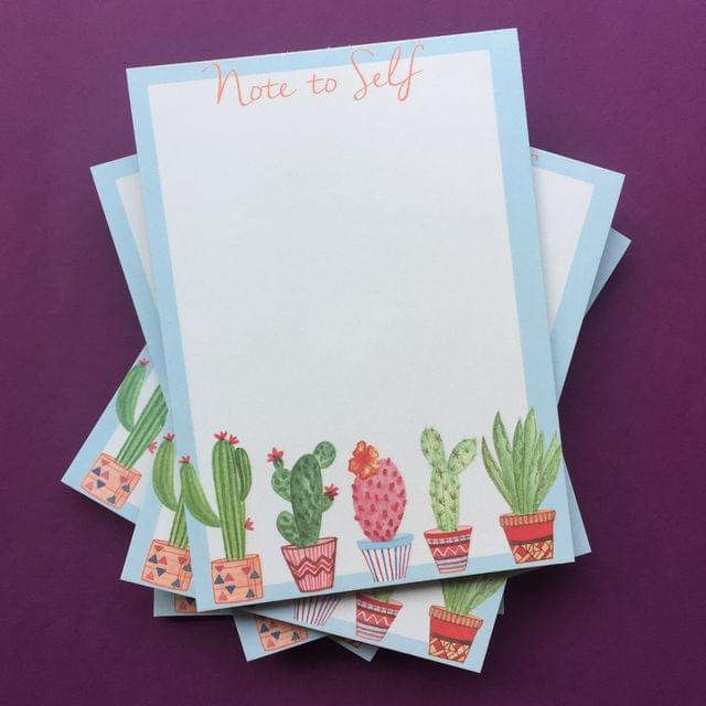 Notepad- Note to Self Cacti Print
