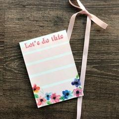 Magnetic Notepad- Let's Do This