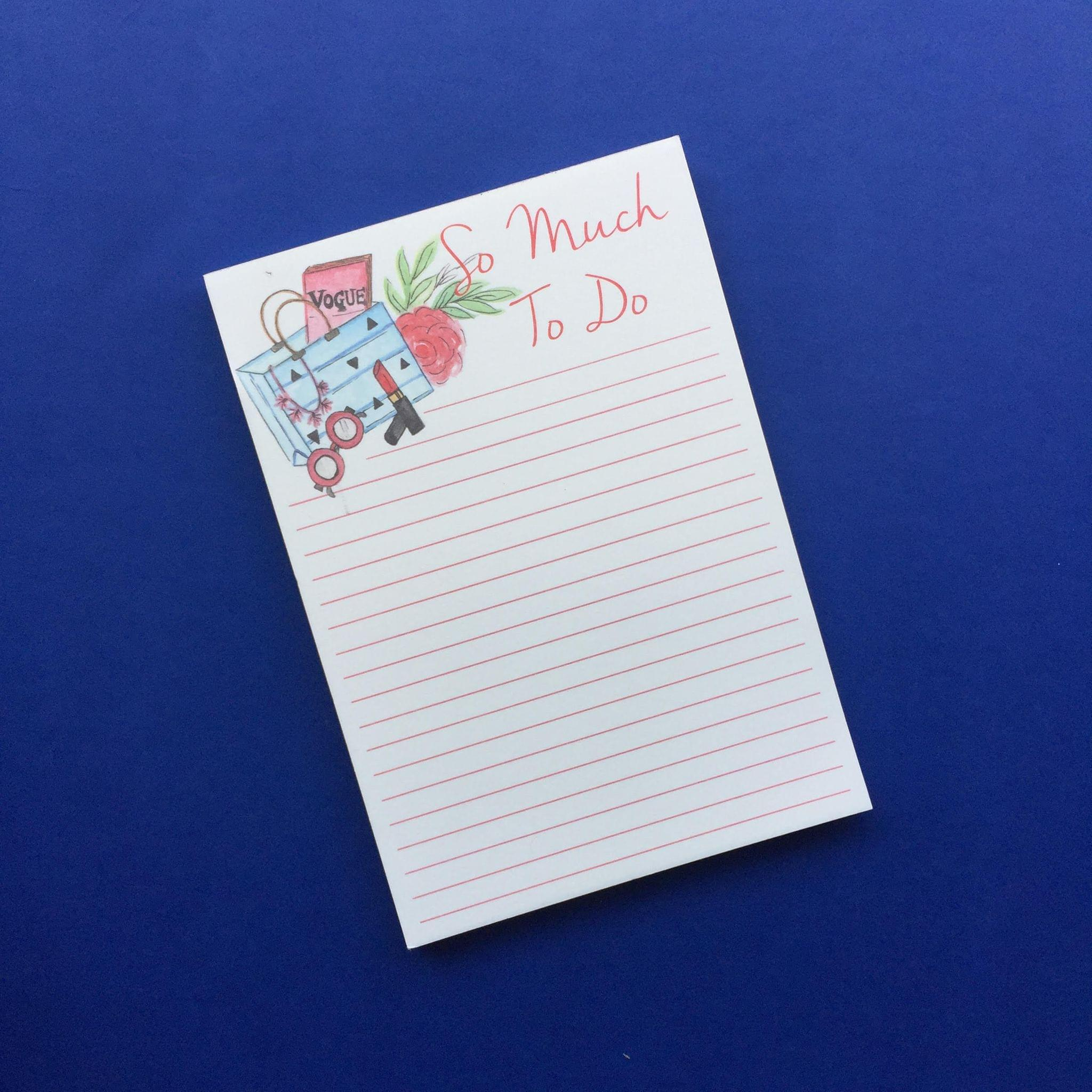 Magnetic Notepad- So much to do
