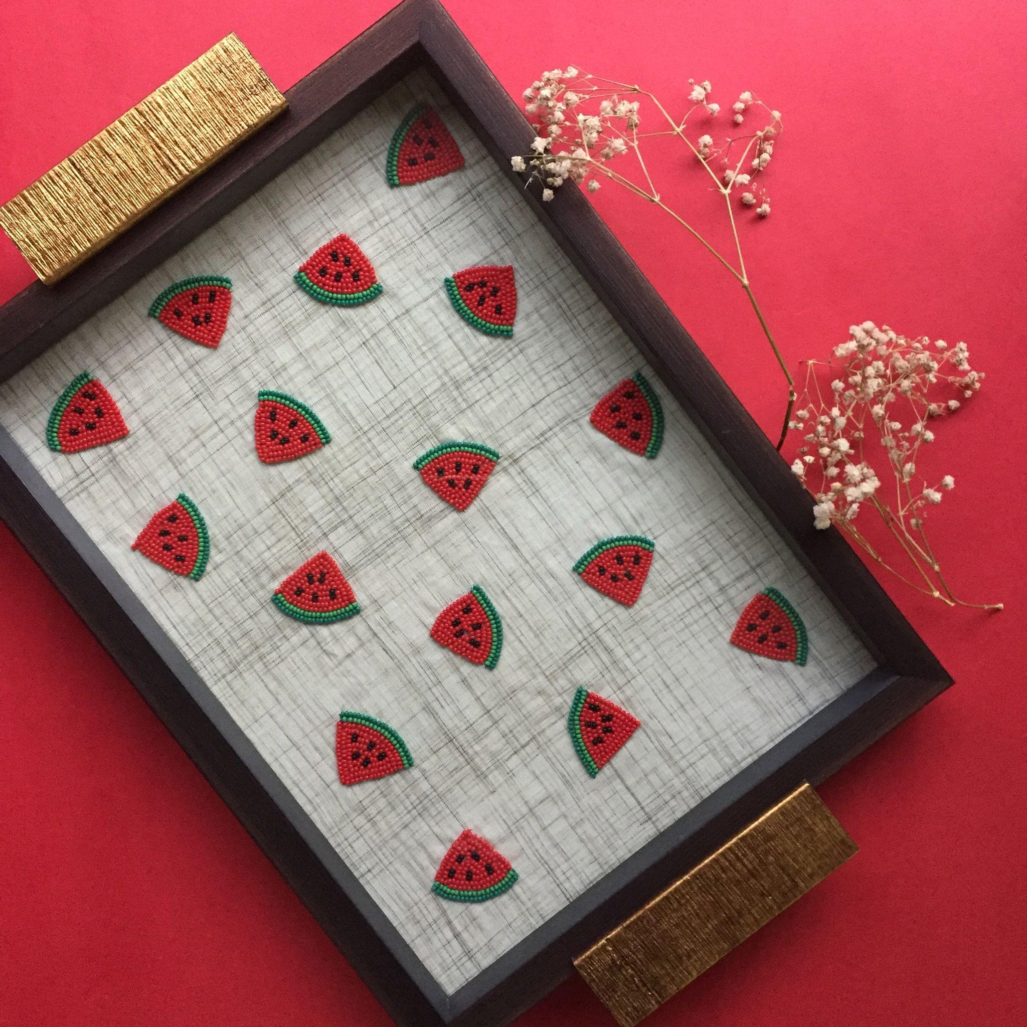 Embroidered Watermelon Tray
