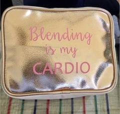 Blending is my Cardio' Makeup pouch