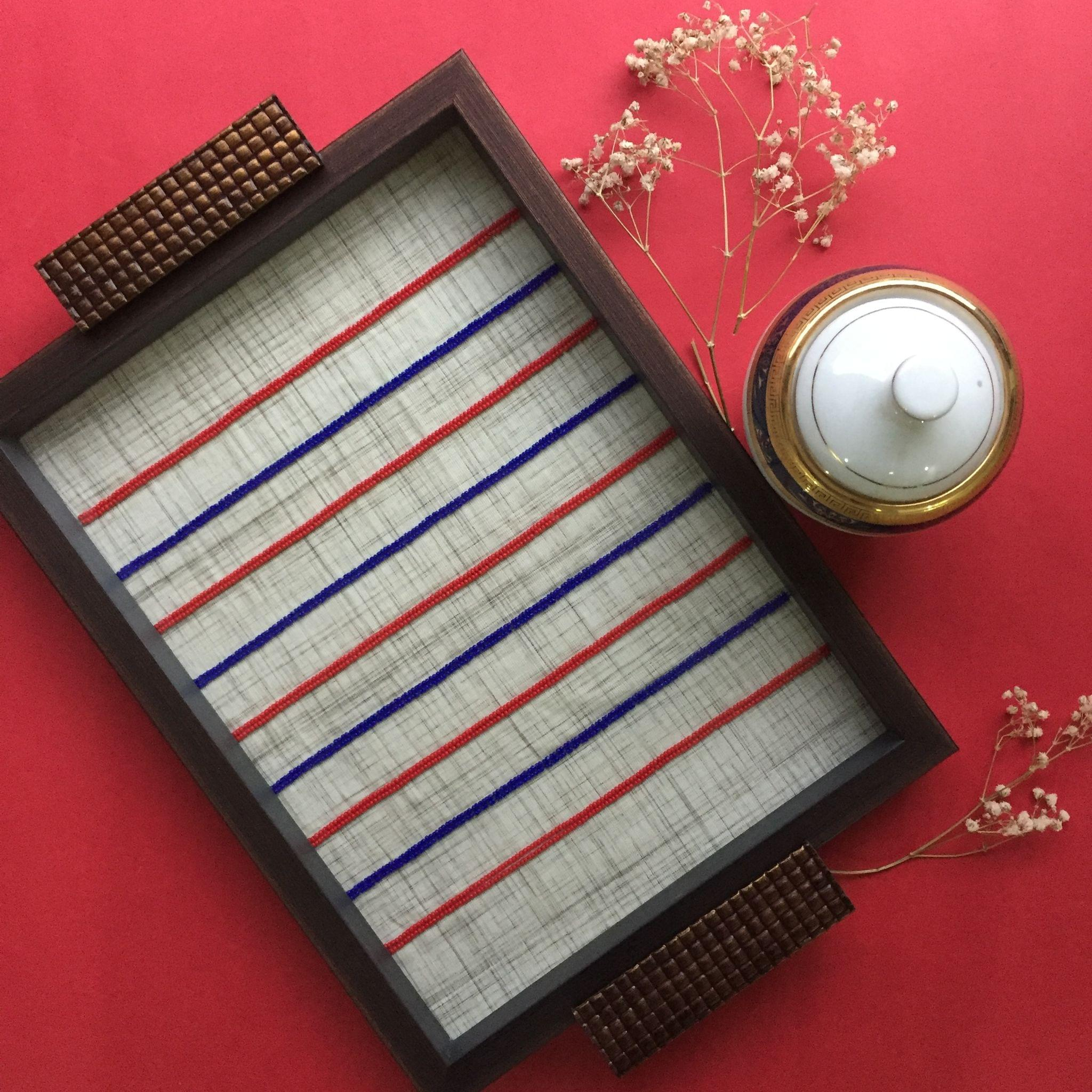 Embroidered Lines Tray