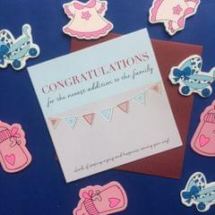 Congratulations for the Baby' card