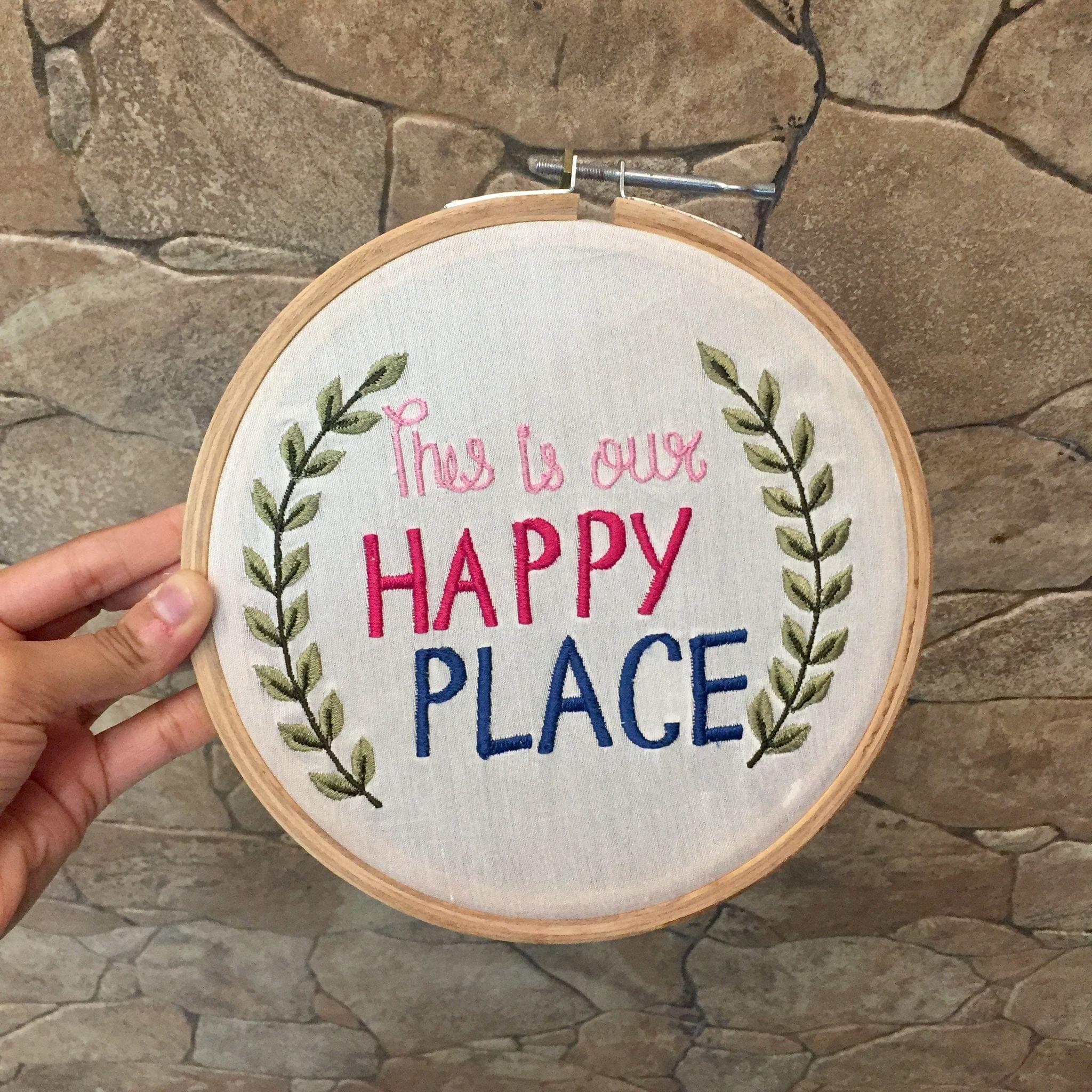 This is our happy place' Hoop Art