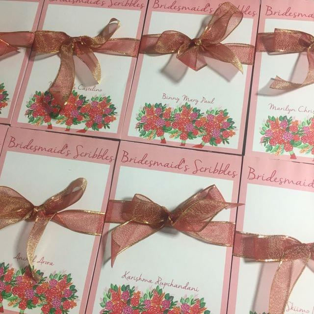 Personalised Bridesmaid's Scribbles notepad