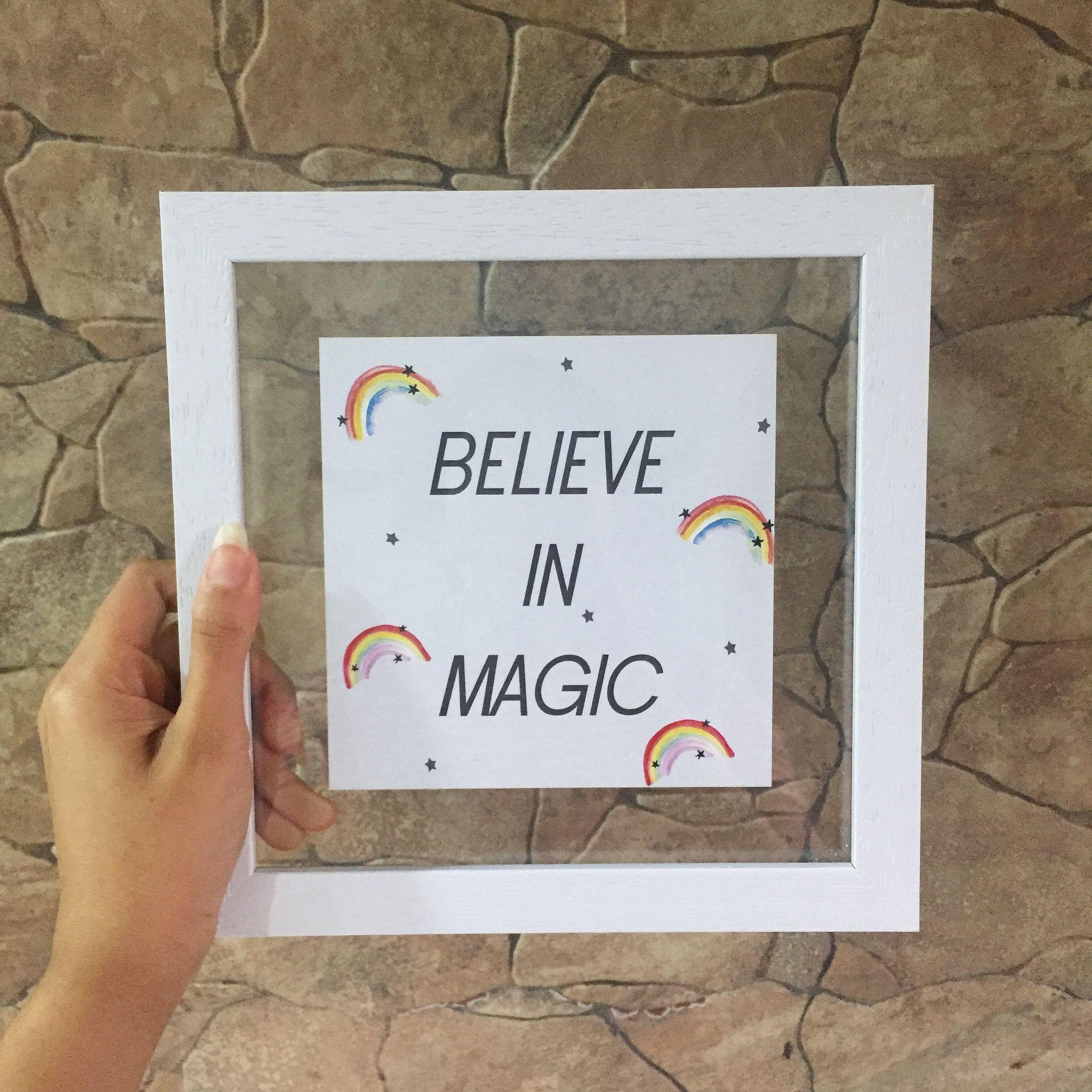 Believe in Magic' Wall Frame