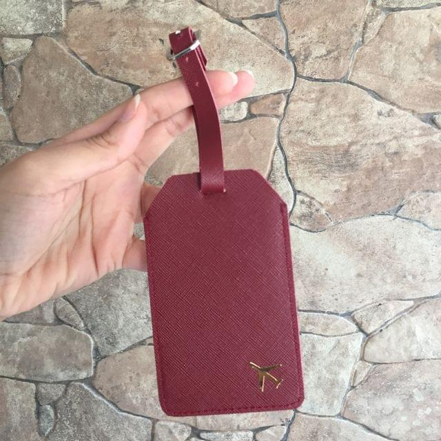 Maroon Luggage Tag
