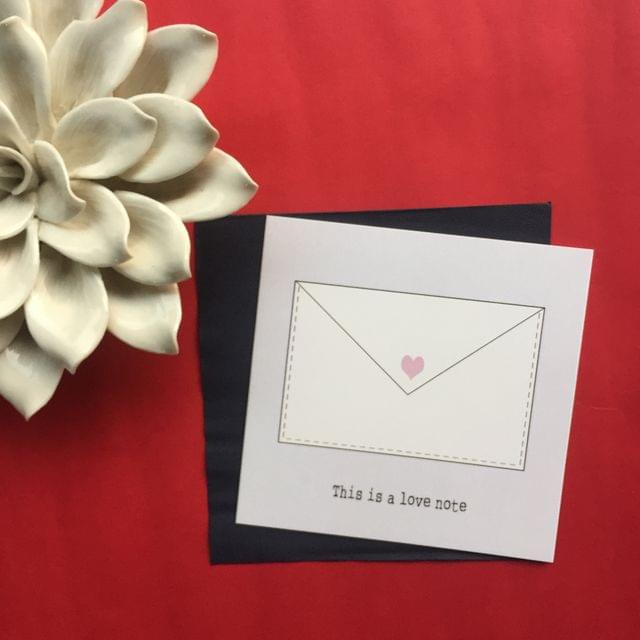 Love Note Greeting Card