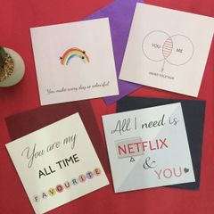 Valentine's Day Greeting Cards: Pack of 4