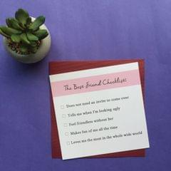 Best Friend Checklist Greeting Card