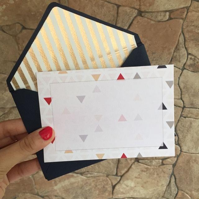 Coloured Triangles Notecard set
