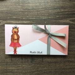 Ballet Bear Money Envelope set