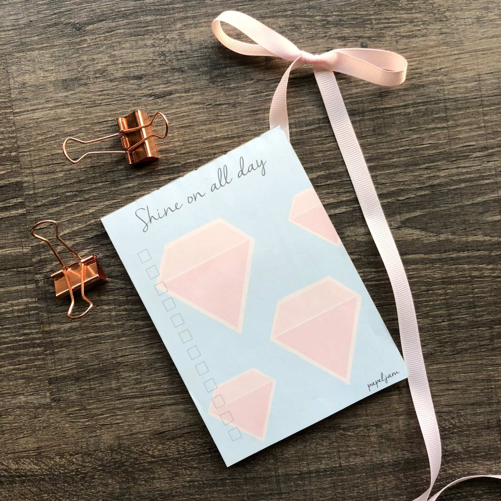 Shine On All Day Mini Notepad