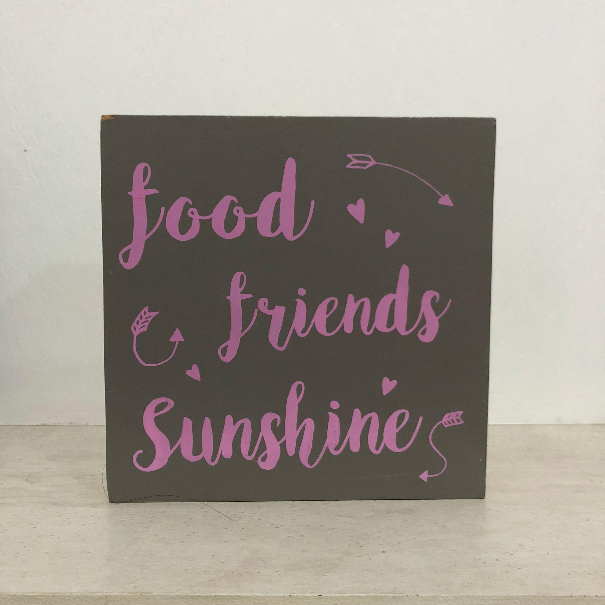 Food Friends Sunshine Wooden Block
