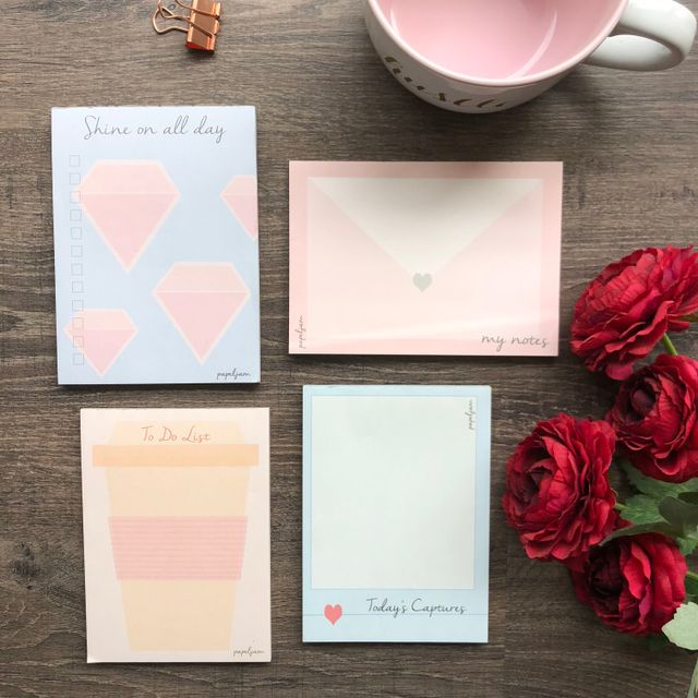 Set of 4 Mini Notepads