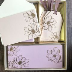 Magnolia Bloom Stationery Set
