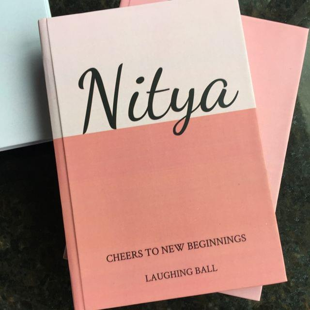 Customised Name & Quote Journal-Pink