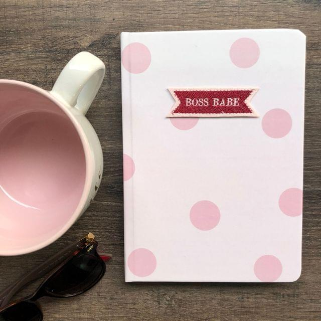 Rosy Polka Hardbound Journal
