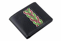 Leather Wallet with hand embroidery-VIVEKA