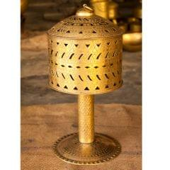 Hand Crafted Brass Rajwadi Round Lamp