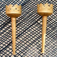 Hand Crafted Brass Torch (Mashaal) Pair