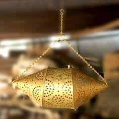Hand Crafted Brass Chandelier Round