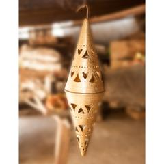 Hand Crafted Brass Chandelier Conical