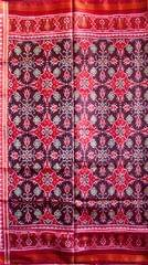 Single Ikat Patola Saree Handwoven-Pure Silk-Brown and Maroon