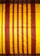 Maheshwari Handwoven Cotton-Silk Saree-Yellow
