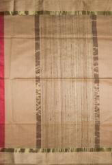 Maheshwari Handwoven Cotton-Silk Saree-Red