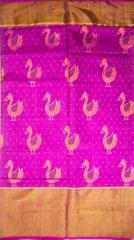 Authentic Single Ikat Rajkot Patola Saree Handwoven-Pure Silk-Silk Mark Certified