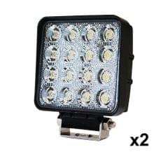 2x 80W LED Work Light Flood Lamp Offroad Tractor Truck 4WD SUV Philips Lumileds