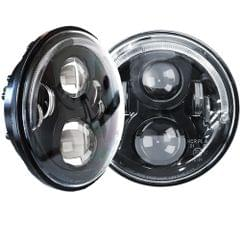 PAIR 7INCH LED HEADLIGHTS HALO 60W 40W SIGNAL DRL FOR 97-16 JEEP WRANGLER JK