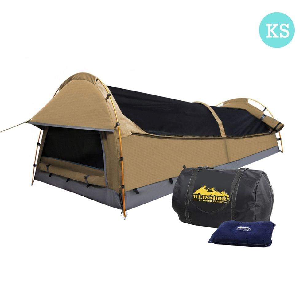 King Single Camping Swag Beige