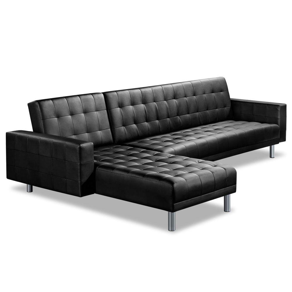 PU Leather Sofa Bed 5 Seater